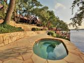 1219 Brooks Hollow Rd, Austin, TX 78734 - Image 1: The bottom (second) hot tub overlooks the lake just under the pool