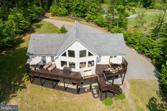 127 ROSE CIRCLE, BUMPASS, VA 23024 - Image 1: : Aerial view of lake side of the house