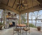 404 Moonlit Trail, Salem, SC 29676 - Image 1: What a wonderful place to dine and enjoy the magic of lake life on Keowee.  Covered outdoor flagstone terrace, dining area with two sided granite fireplace.